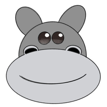 How to Draw a Hippopotamus Face for Kindergarten