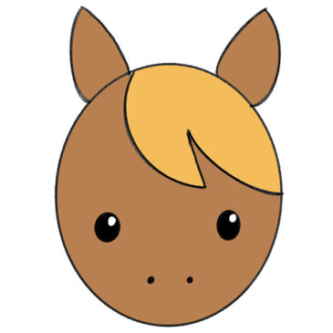 How to Draw a Horse Face for Kindergarten