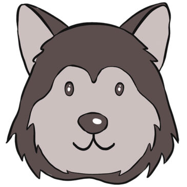 How to Draw a Husky Face