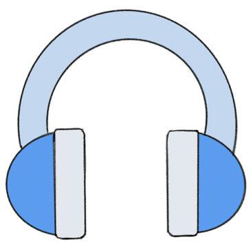 How to Draw Headphones for Kindergarten